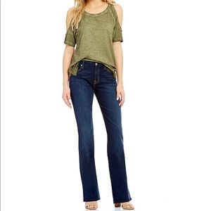 7 for All Mankind Low-Rise Bootcut Flare Jeans